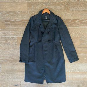 Arden B Damask Trench Peacoat | Black | L